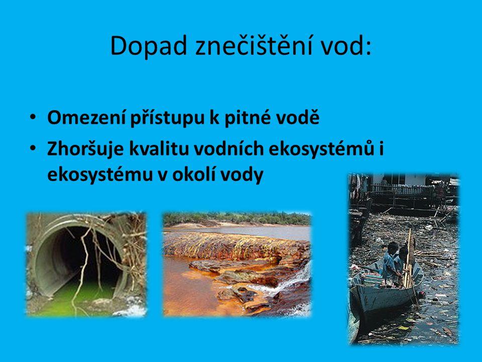 Dopad znečištění vod: Omezení přístupu k pitné vodě