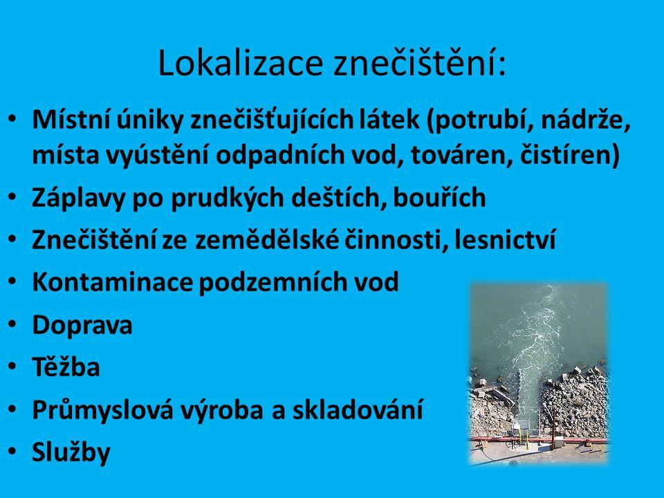 Lokalizace znečištění: