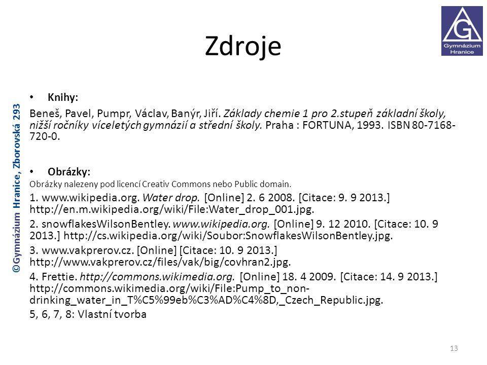 Zdroje Knihy: