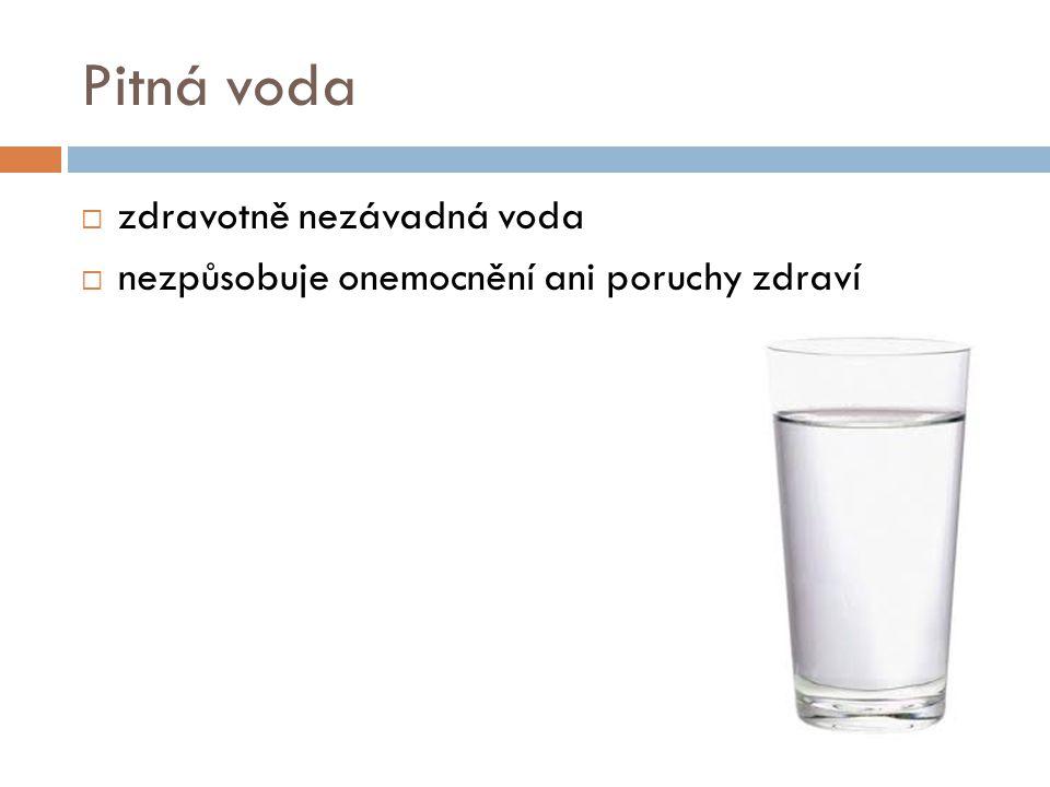 Pitná voda zdravotně nezávadná voda
