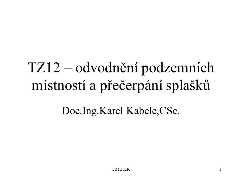 TZ12 – odvodnění podzemních místností a přečerpání splašků