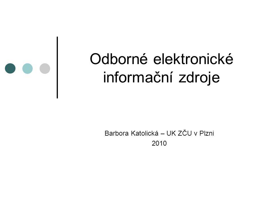 Odborné elektronické informační zdroje