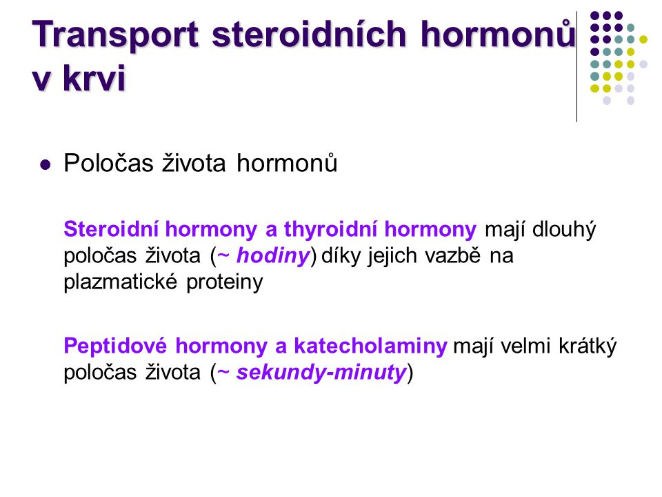 Transport steroidních hormonů v krvi