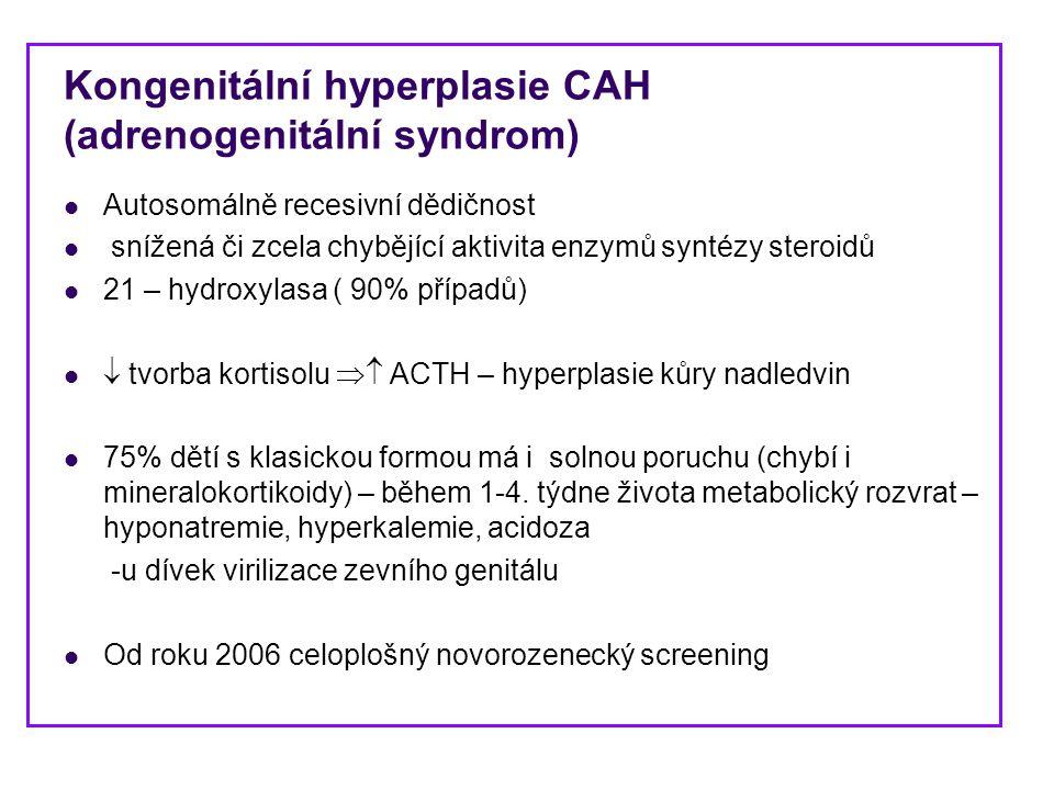 Kongenitální hyperplasie CAH (adrenogenitální syndrom)