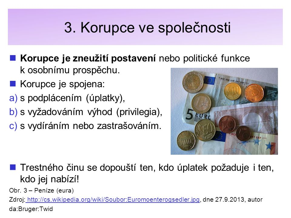 3. Korupce ve společnosti