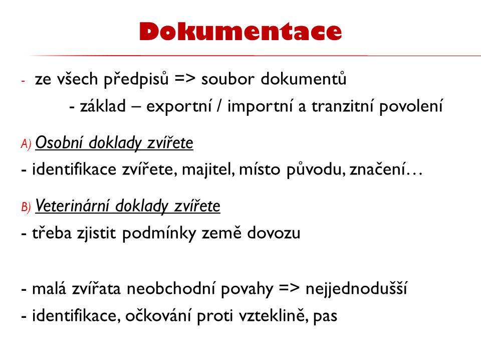 Dokumentace ze všech předpisů => soubor dokumentů
