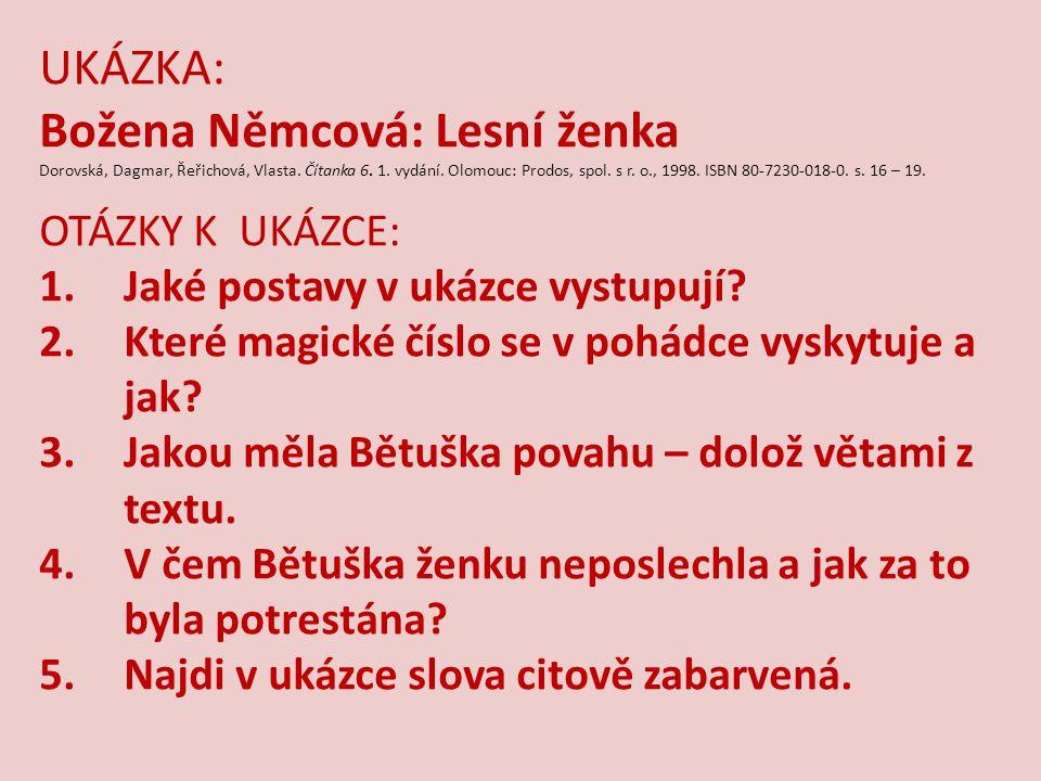 Božena Němcová: Lesní ženka