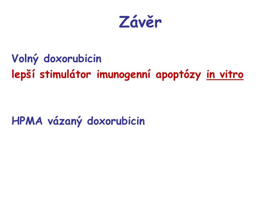Závěr Volný doxorubicin lepší stimulátor imunogenní apoptózy in vitro