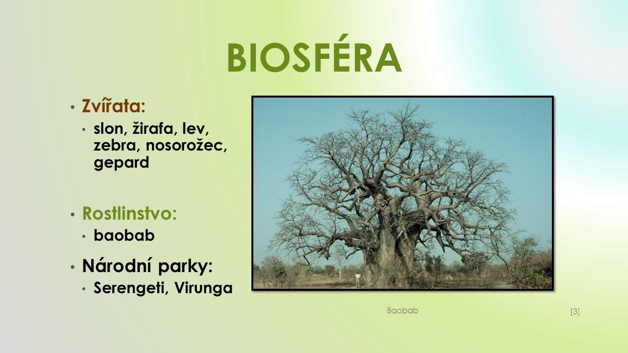 BIOSFÉRA Zvířata: Rostlinstvo: Národní parky: