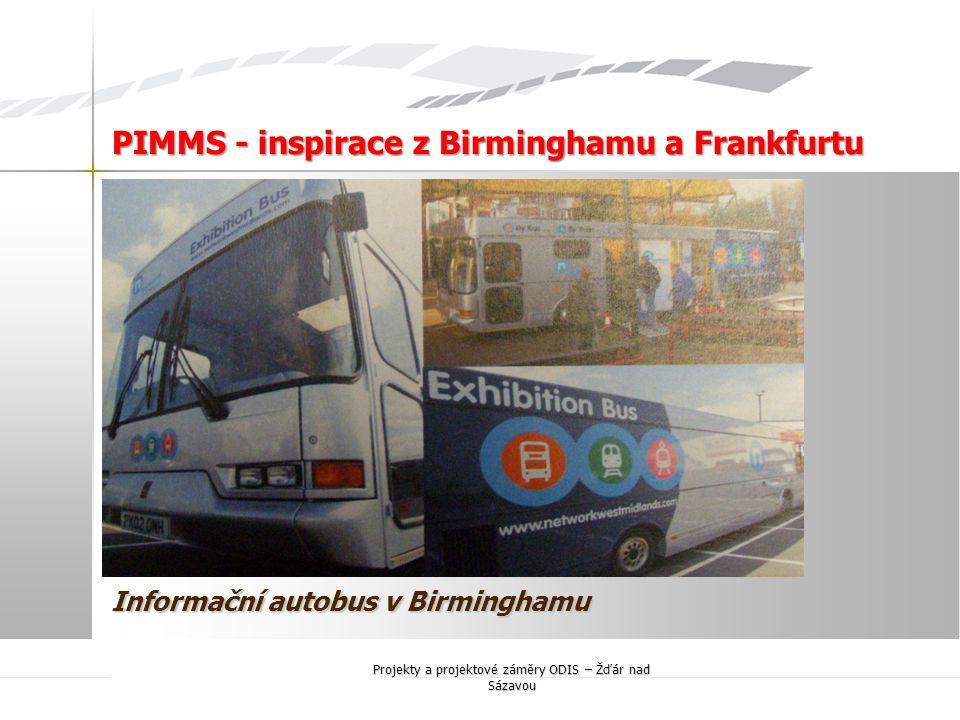 Informační autobus v Birminghamu
