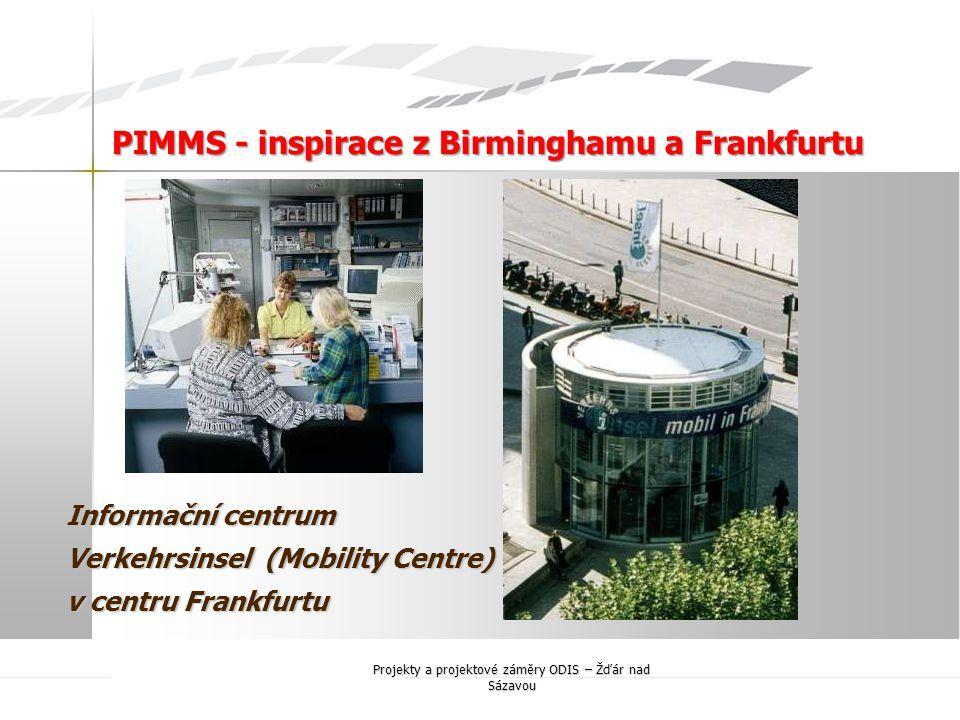 Informační centrum Verkehrsinsel (Mobility Centre) v centru Frankfurtu