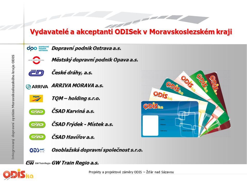 Vydavatelé a akceptanti ODISek v Moravskoslezském kraji