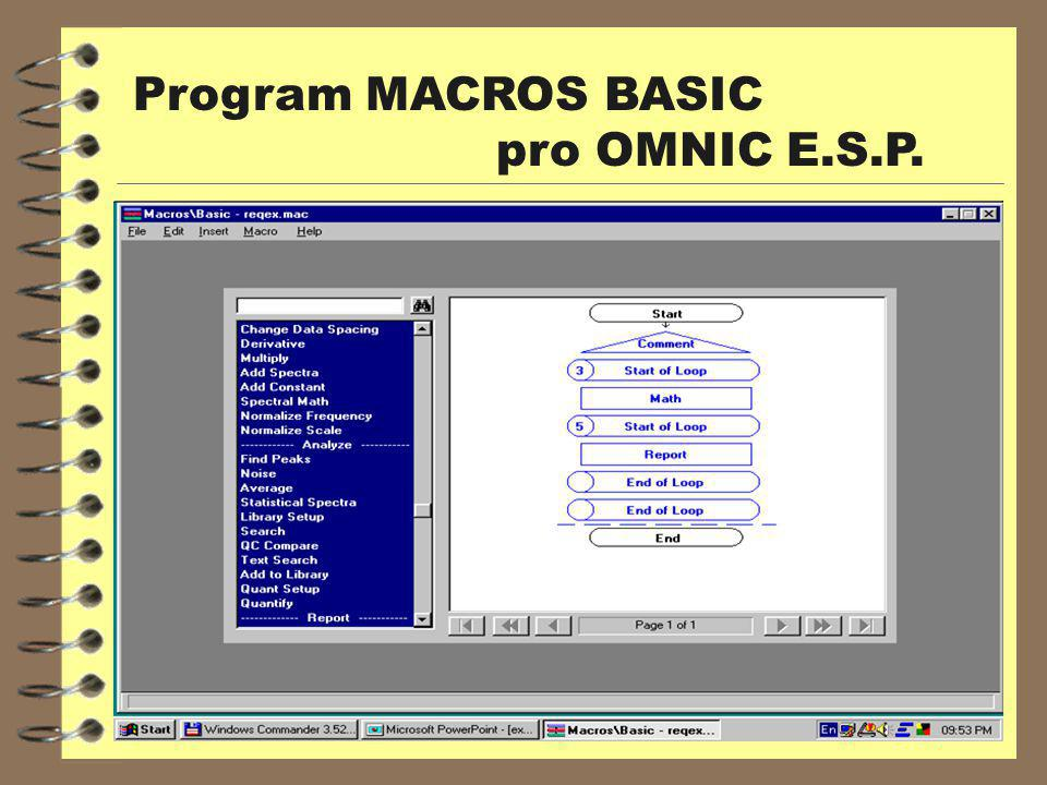 Program MACROS BASIC pro OMNIC E.S.P.