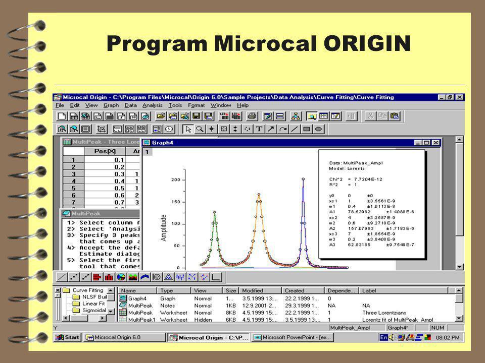 Program Microcal ORIGIN