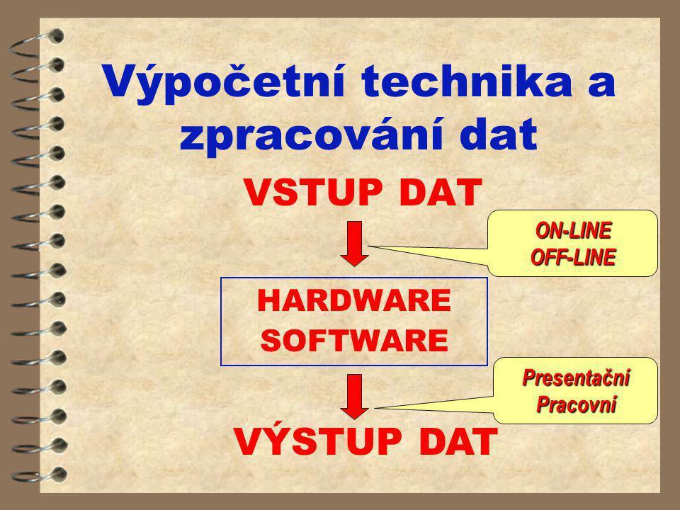 Výpočetní technika a zpracování dat