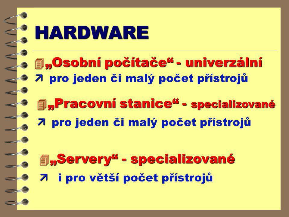 """HARDWARE """"Osobní počítače - univerzální"""