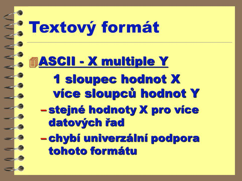 Textový formát ASCII - X multiple Y