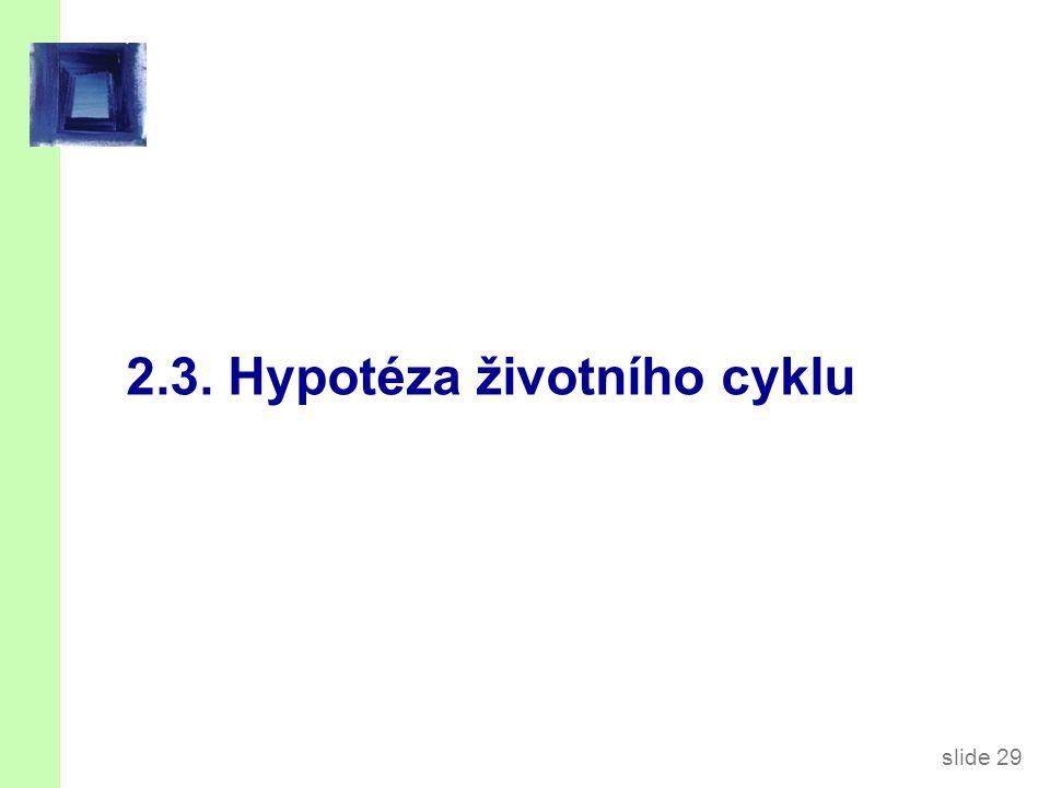Hypotéza životního cyklu