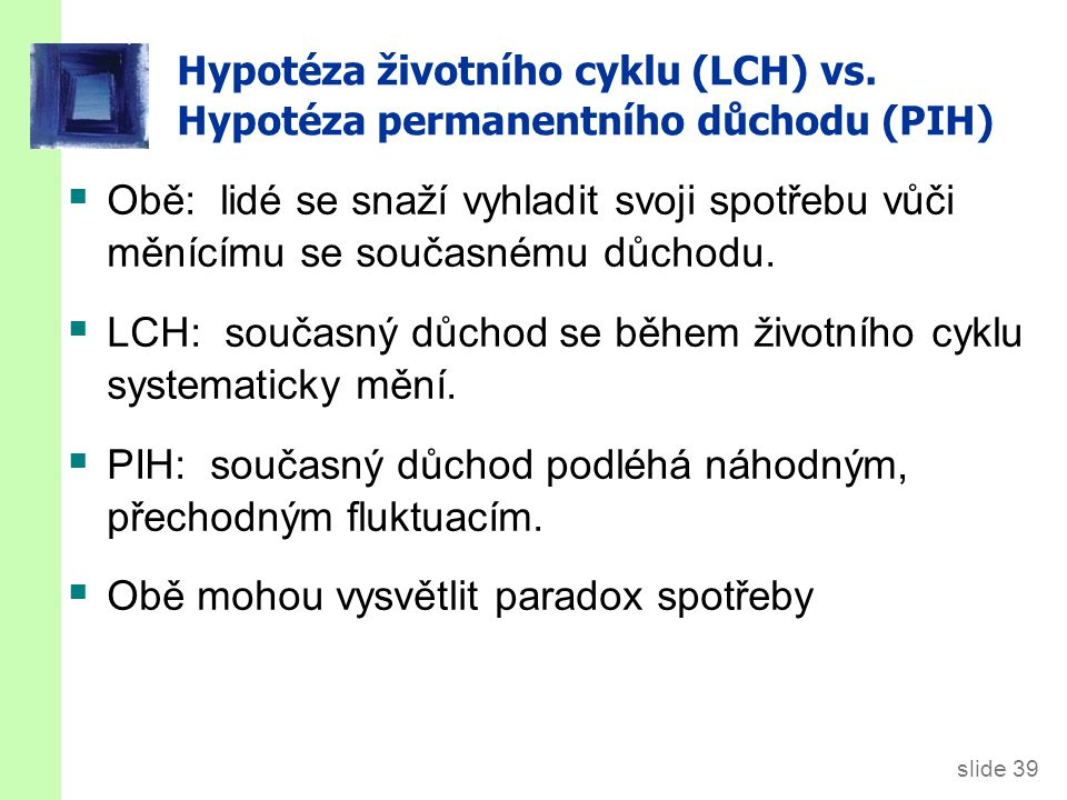 2.5. Hypotéza náhodné procházky