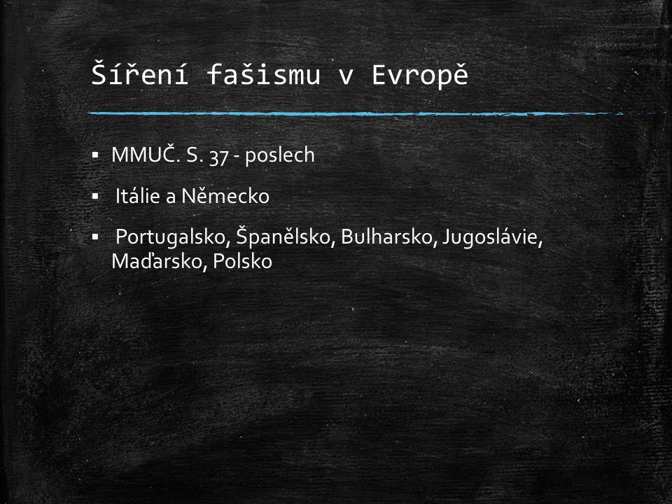 Šíření fašismu v Evropě