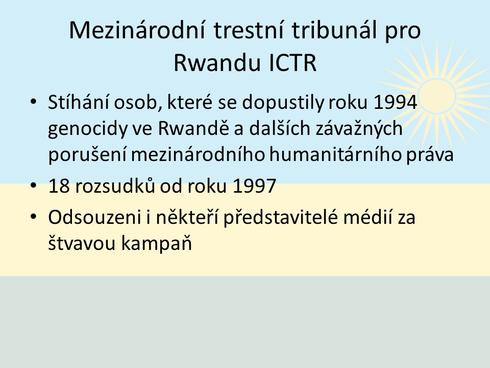 Mezinárodní trestní tribunál pro Rwandu ICTR