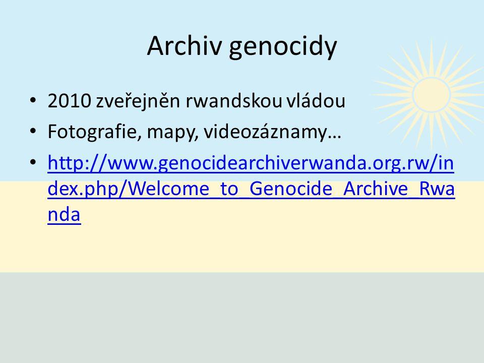 Archiv genocidy 2010 zveřejněn rwandskou vládou