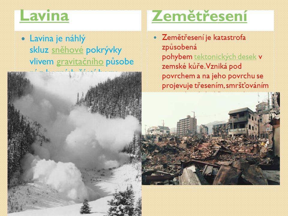 Lavina Zemětřesení.