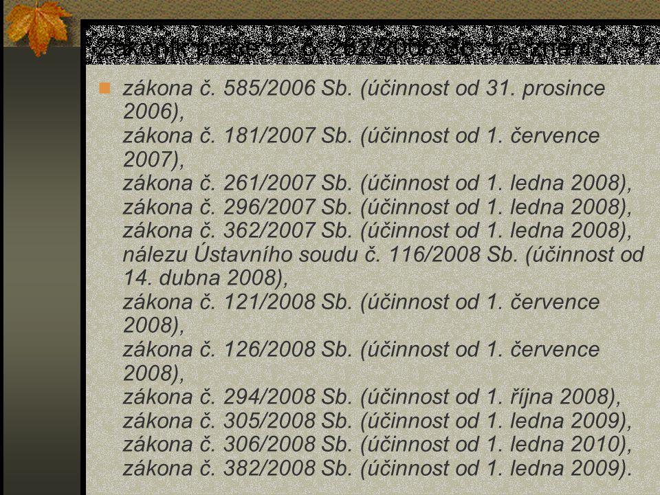 Zákoník práce, z. č. 262/2006 Sb., ve znění