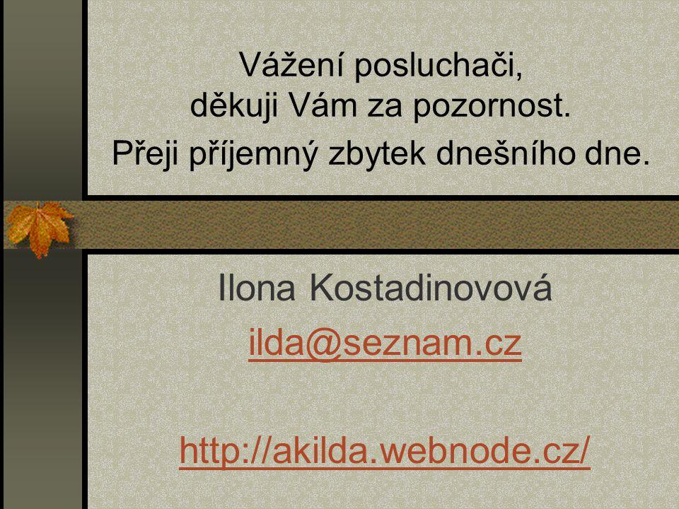 Ilona Kostadinovová ilda@seznam.cz http://akilda.webnode.cz/