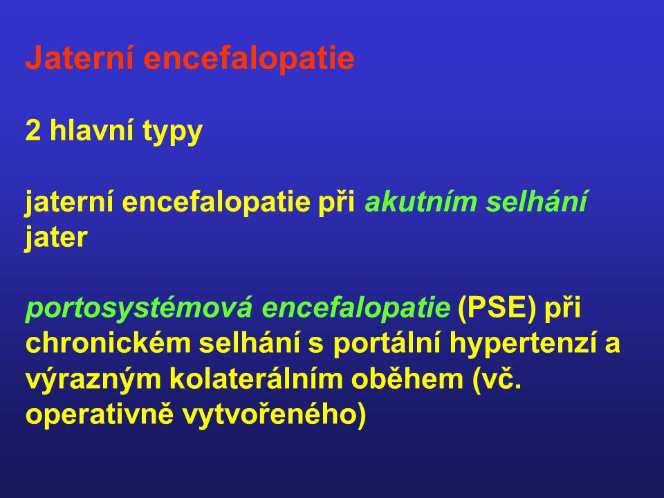 Jaterní encefalopatie