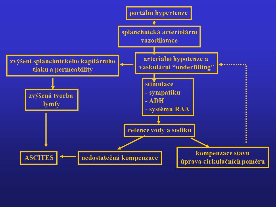 splanchnická arteriolární vazodilatace