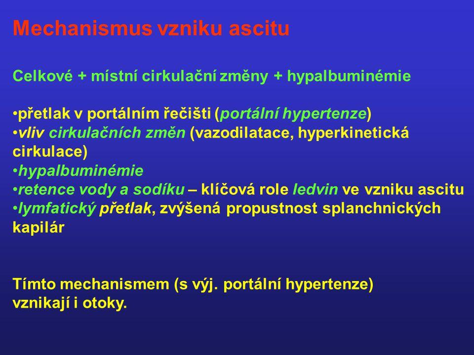 Mechanismus vzniku ascitu