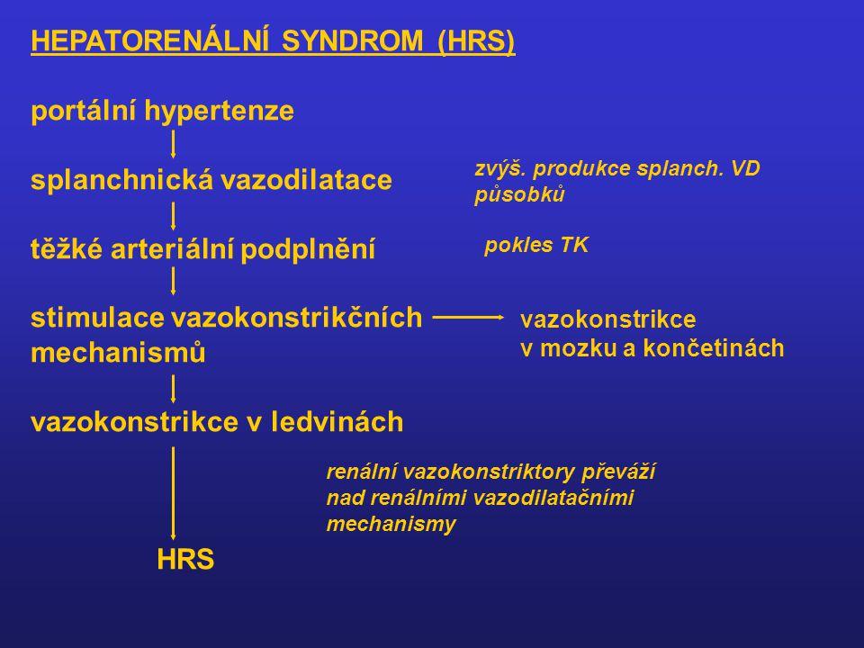 HEPATORENÁLNÍ SYNDROM (HRS) portální hypertenze