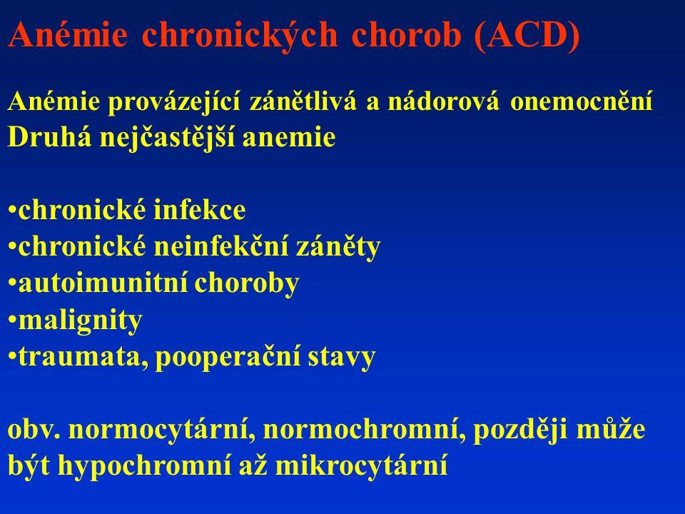 Anémie chronických chorob (ACD)