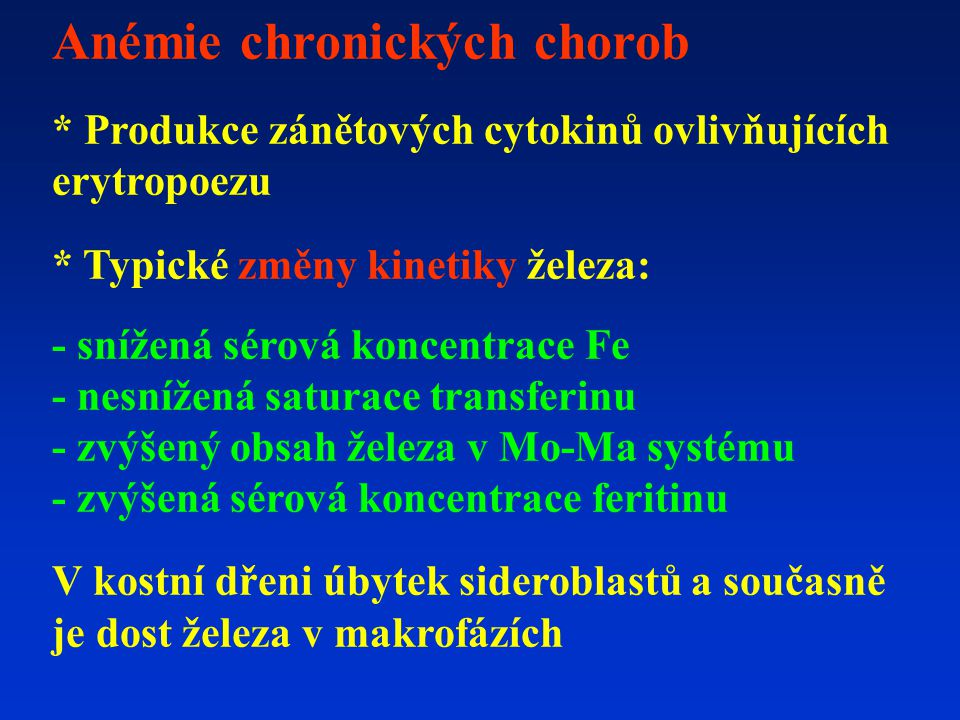 Anémie chronických chorob