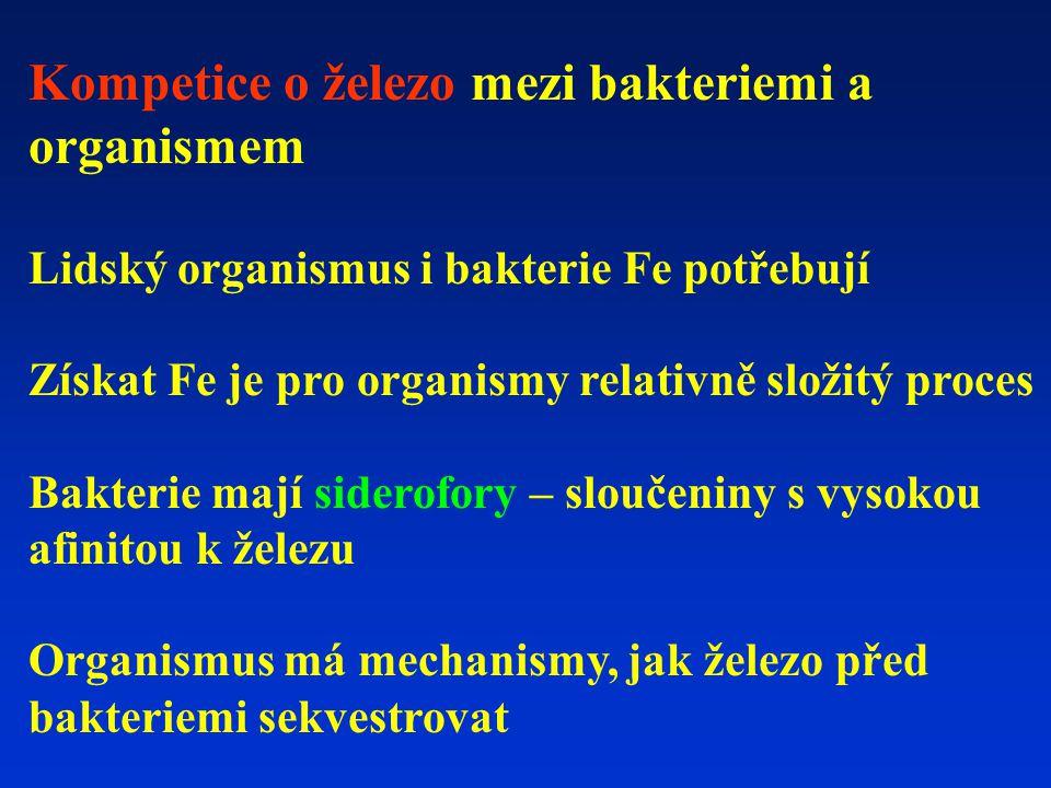 Kompetice o železo mezi bakteriemi a organismem
