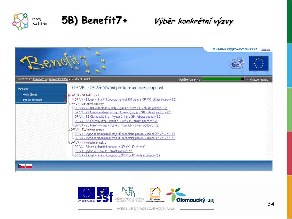 5B) Benefit7+ Výběr konkrétní výzvy