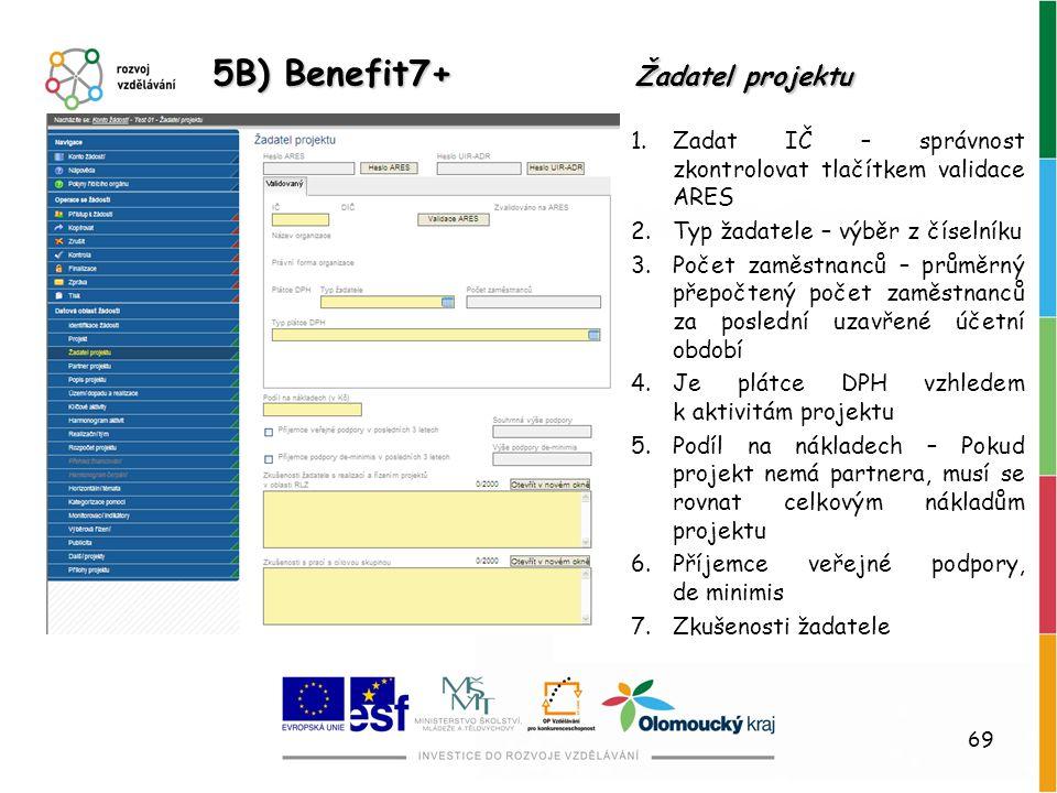 5B) Benefit7+ Žadatel projektu