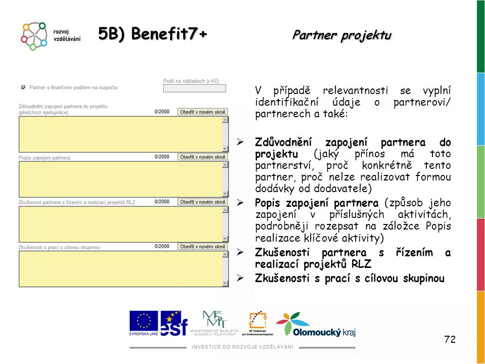 5B) Benefit7+ Partner projektu