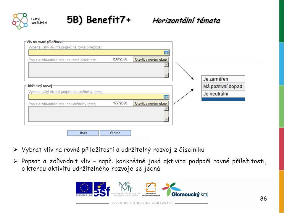 5B) Benefit7+ Horizontální témata