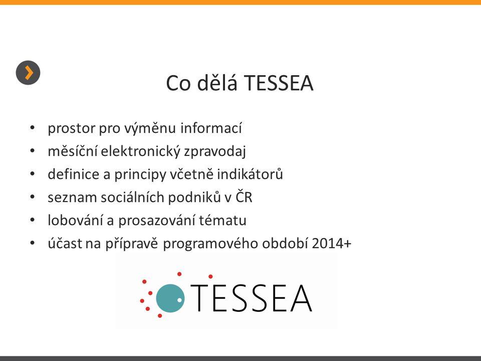 Co dělá TESSEA prostor pro výměnu informací