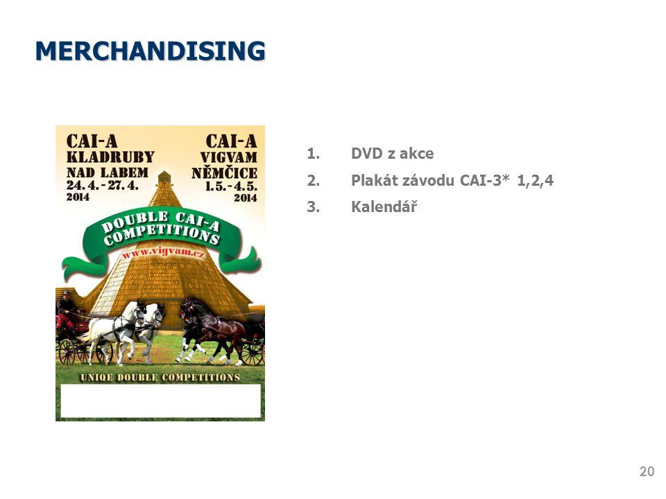 MERCHANDISING DVD z akce Plakát závodu CAI-3* 1,2,4 Kalendář 20