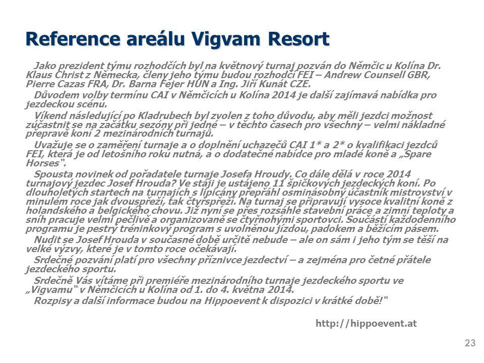 Reference areálu Vigvam Resort