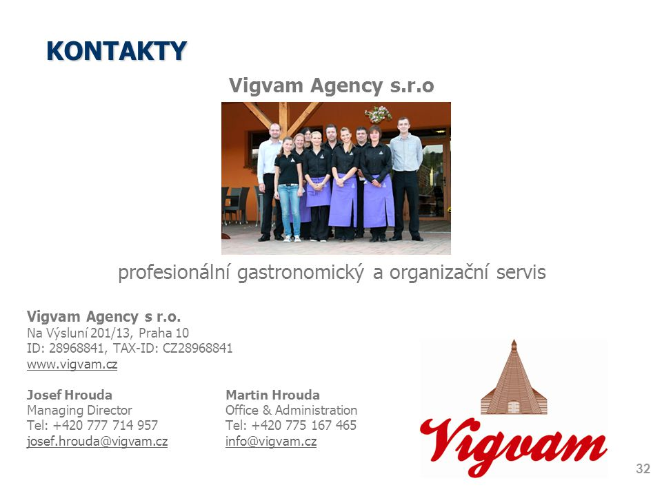 profesionální gastronomický a organizační servis