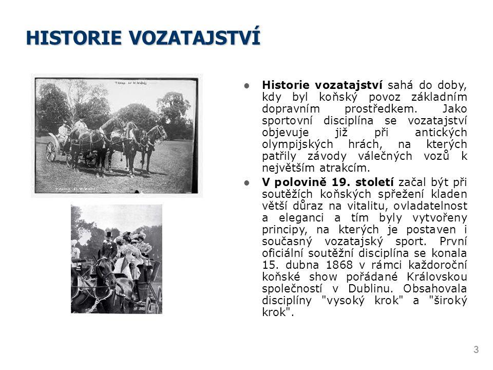 HISTORIE VOZATAJSTVÍ