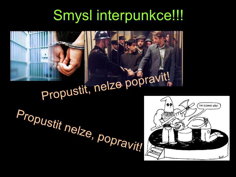 Smysl interpunkce!!! Propustit, nelze popravit!