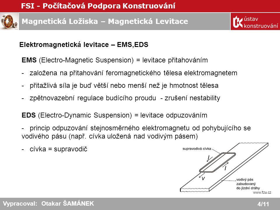 Elektromagnetická levitace – EMS,EDS