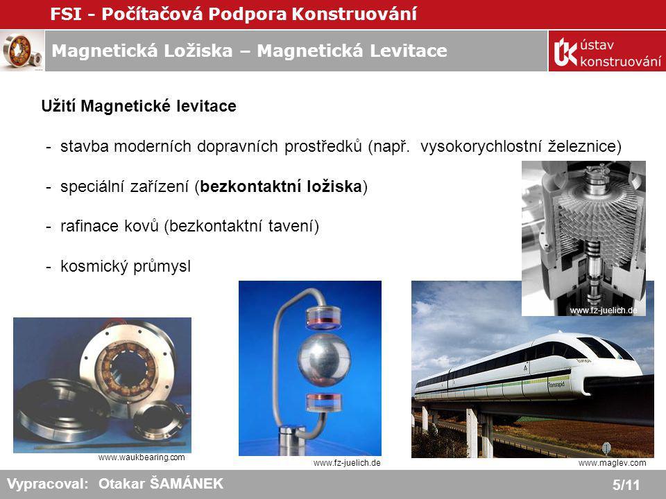 Užití Magnetické levitace