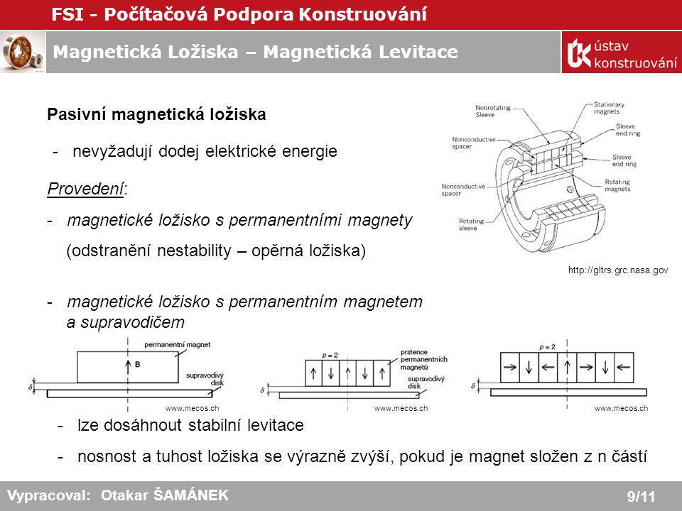 Pasivní magnetická ložiska