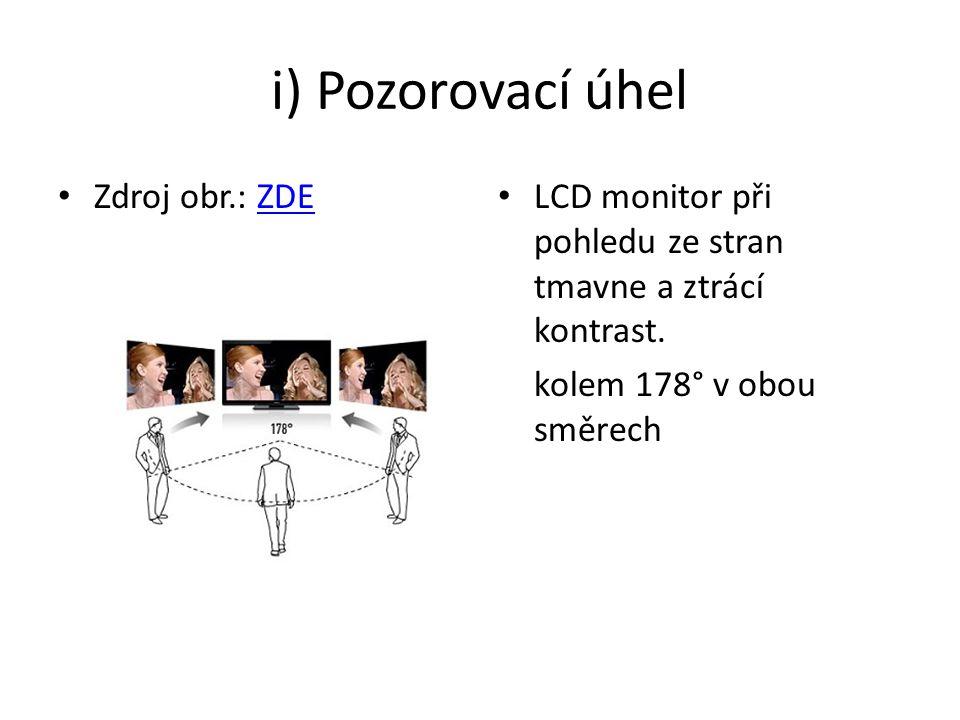 i) Pozorovací úhel Zdroj obr.: ZDE